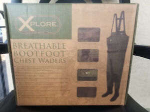breathable boot foot chest waders brand new sealed