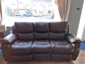 3 seater recliner sofa and single seat recliner
