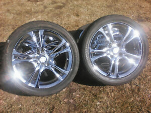 "17"" Chrome FAST Rims With Tires - 4x108 or 4x114.3 Bolt Pattern"