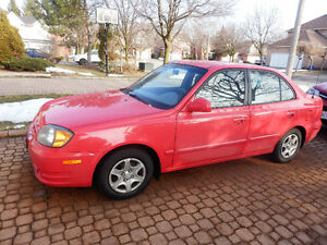 2003 Hyundai Accent Sedan - Sales for Parts, Un-safe for driving