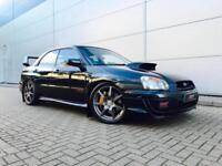 2005 55 reg Subaru Impreza 2.0 WRX STI Type UK Black + PRODRIVE PERFORMANCE PACK