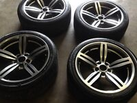 Bmw M6 Alloys 18'' Diamond Cut suitable for 3/5 series CAN SELL SINGLE CAN POST CAN PART EX