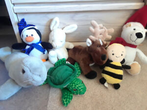 Various stuffed animals
