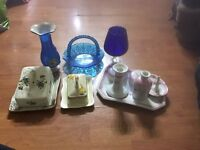 Butter dish and pieces