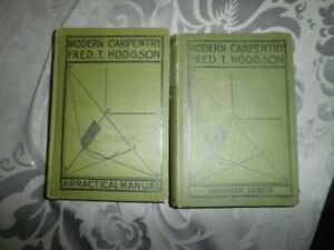 Antique carpentry books
