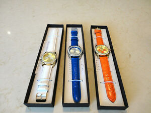 4 Brand New Manhattan by Croton Quartz Watches w/ Leather Bands Kitchener / Waterloo Kitchener Area image 2