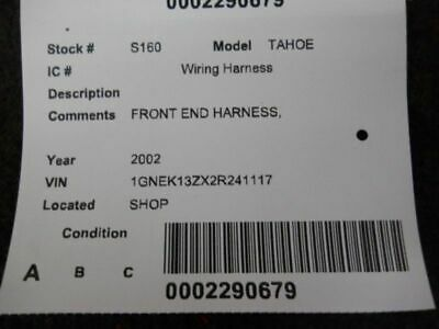 TAHOE     2002 Engine Wire Harness 243654