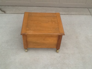 Antique end table / sewing box