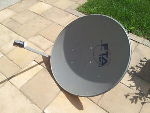 FTA satellite dish with motor and receiver