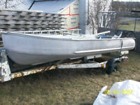 14ft Aluminum boat with trailer and 9.8 Mercury outboard