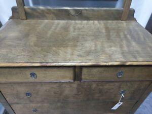 Antique dresser with swivel mirror