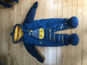 One-Piece Snow Suit from Peluche & Tartine in Blue (12 months)