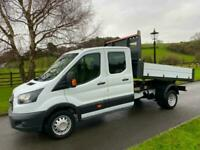 FORD TRANSIT 350 130PS CREW CAB ONE STOP TIPPER 18 REG ONLY 15,800 MILES