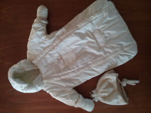 Gusti Baby Snowsuit with Hat & Mitts - size-3/6M