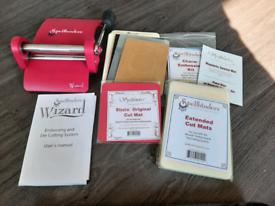 Used Spellbinders Wizard Embossing & Die Cutting Machine with mats
