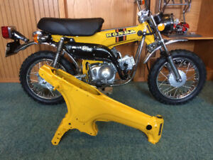 1974 honda st90 mint painted frame and parts, project bike