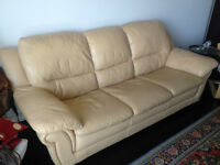 Leon`s leather couch/sofa and IKEA Mattress Queen