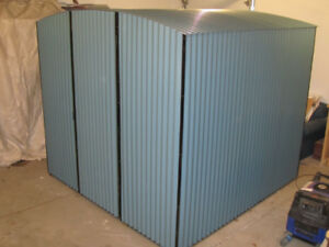 New Corrugated Steel 8'x8' shed
