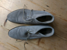 Jasper conran suede desert boots shoes in grey size 10 as new