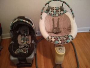 Graco baby/newborn Click connect car seat + base and  Baby Swing