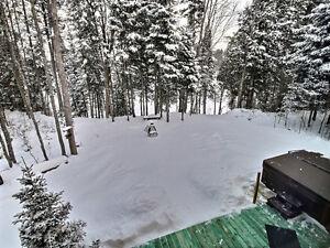 Le Loup Blanc chalet en bois rond à louer Saint-Hyacinthe Québec image 10