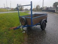 Clean 6x4 car trailer lights spare wheel jockey wheel