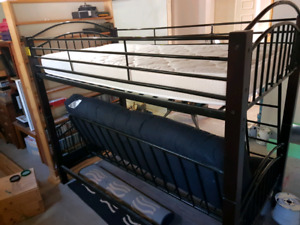 Futon with twin bunk