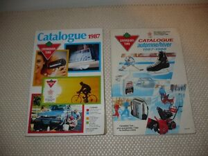 "2-  Anciens Catalogues différents  "" Canadian Tire 1987 """