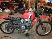 80 klr 250 with a cb450 engine