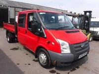 FORD TRANSIT 350 DOUBLE CAB TIPPER, Red, Manual, Diesel, 2014
