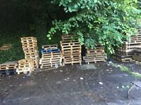 Scrap pallets ready to be collected