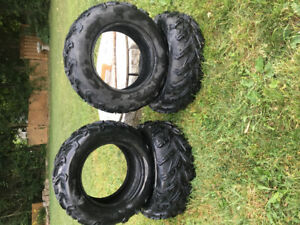 CST AT 26x8-14 and 26x10-14 Atv tires like new! Less then100 km