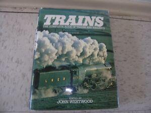 TRAINS HARDCOVER BOOK - JOHN WESTWOOD