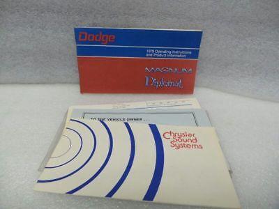 MAGNUM DIPLOMAT 1979 Owners Manual 16543