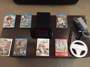 Wii u with 7 games and a amiibo