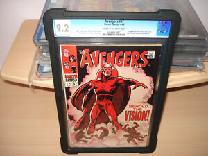 Avengers #57 CGC 9.2  First apperance of Vision