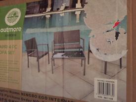 New in box garden furniture set