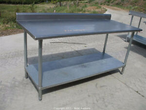 Stainless Steel Worktables With Backsplash! All Sizes Available!