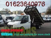 FORD TRANSIT T350M 2.4 TDCI TIPPER 115PS 6 SPEED 1 OWNER F/S/H VAN FINANCE