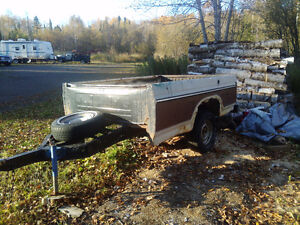 8 ft pickup box trailer WITH tailgate