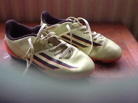 Adidas size 2 football boots with studs