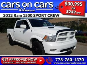 2012 Ram 1500 SPORT CREW HEMI w/Leather, Sunroof, Navi, BackUp C