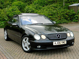2006 06 REGMERCEDES-BENZ CL500 V8 7G- AUTO COUPE WITH FMBSH+MASSIVE SPEC+BOSE+++