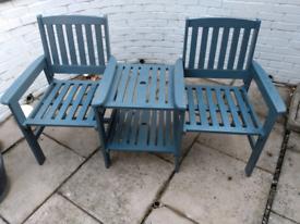 Love Seat Garden bench