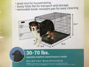 Large dog kennel for dogs up to 70lbs gently used