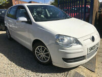 ✿09-Reg Volkswagen Polo 1.4 TDI BlueMotion Tech 2 5dr, WHITE ✿DIESEL✿