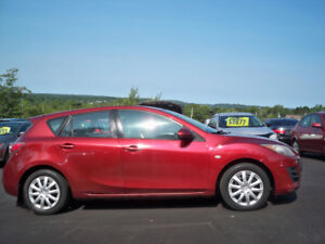 WINTER  TIRES ON IT! , NICE RED 2010 MAZDA 3 - FINANCE IT !