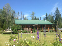 Log home west of Prince George on rural acres. Chilako