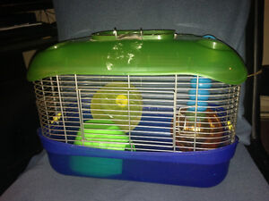 Hamster cage with all the accessories