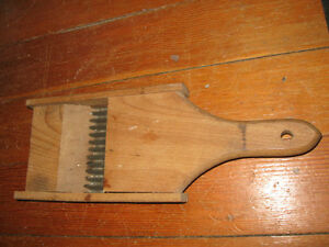 Antique Wood & Metal Kraut/Vegetable Hand Held Cutter Peterborough Peterborough Area image 2